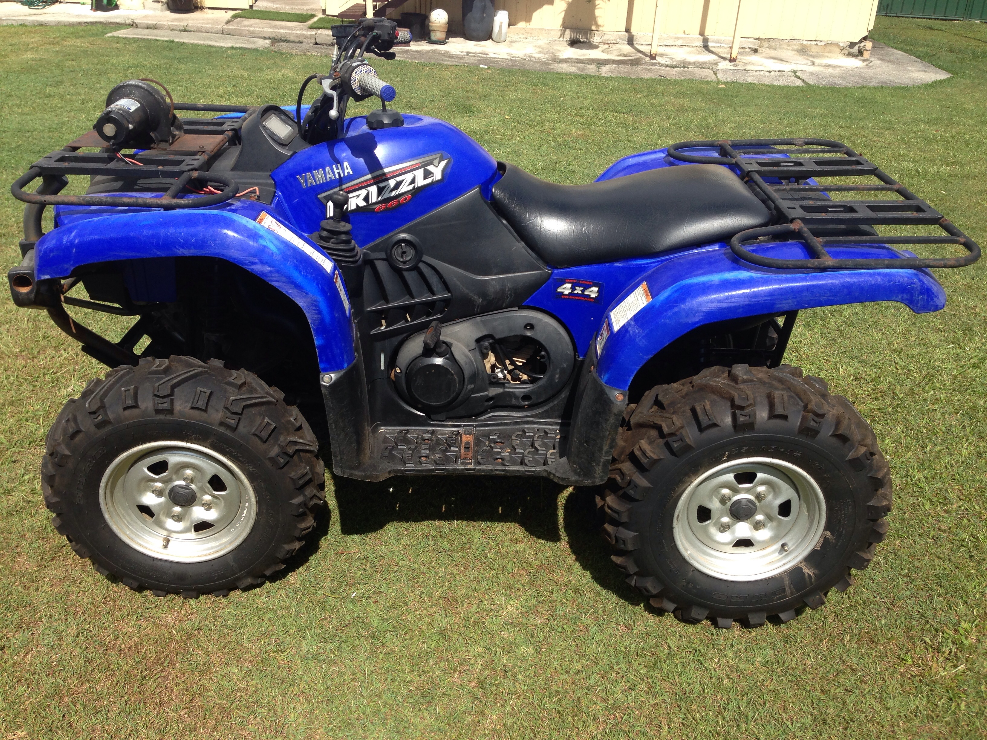 2004 yamaha yfm66fase grizzly 660 bike sales qld brisbane. Black Bedroom Furniture Sets. Home Design Ideas