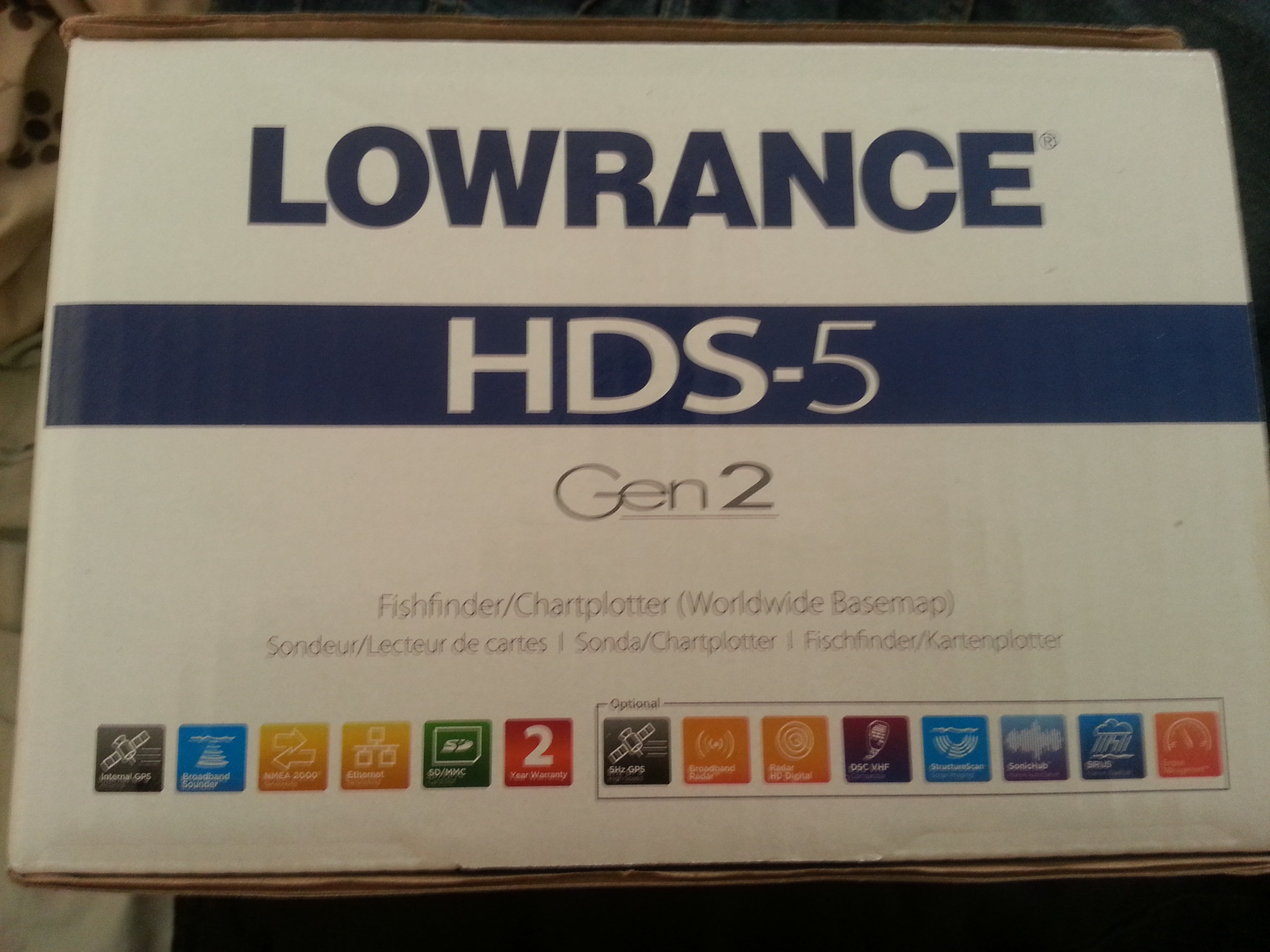 Brand New Lawrence Hds5 Gen 2 Fishfinder Gps Combo For